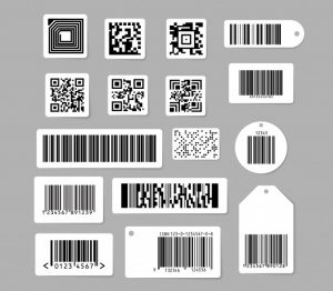 Barcode QR code set used by Retailcore software