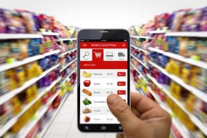 Grocery shopping from mobile phone app