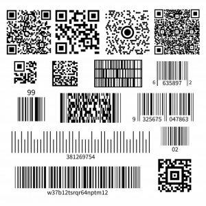Bar Code Types Set