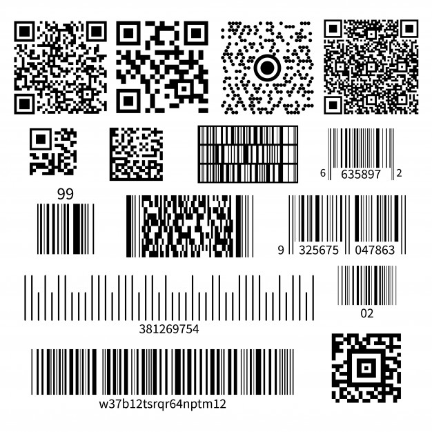 Bar Code Types Set